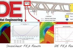 Watch StressCheck Demos of Digital Engineering.com FEA Case Studies